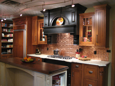 SCM Design Group copper backsplash