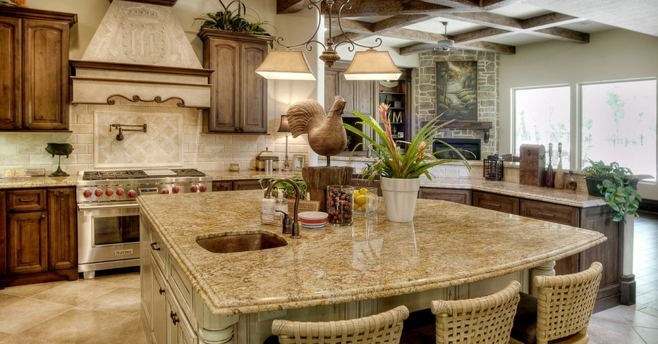 SCM DesignGroup large granite island
