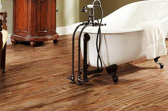 SCM Design Group wood tile in bathroom