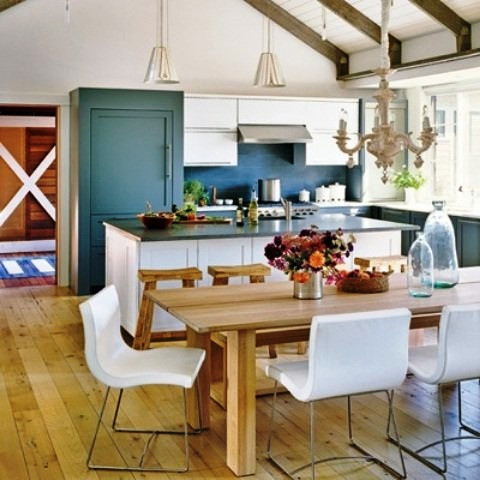SCM Design Group colorful rustic kitchen