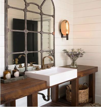 SCM Design Group - Powder room - unique sink