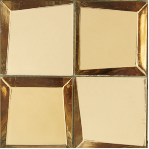 SCM Design Group metallic gold sideview glass tiles