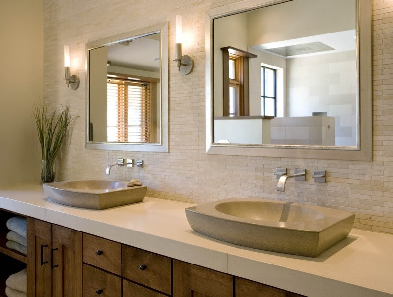 SCM Design Group earthy neutral tones in vanity