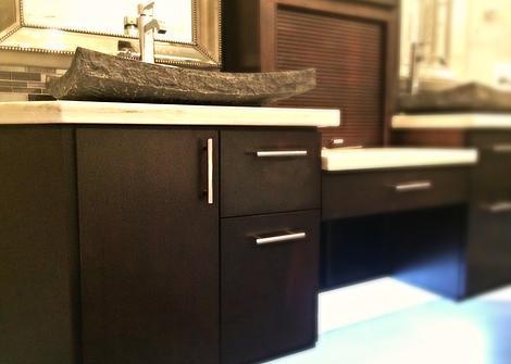 SCM Design Group dark bathrooom vanity cabinets