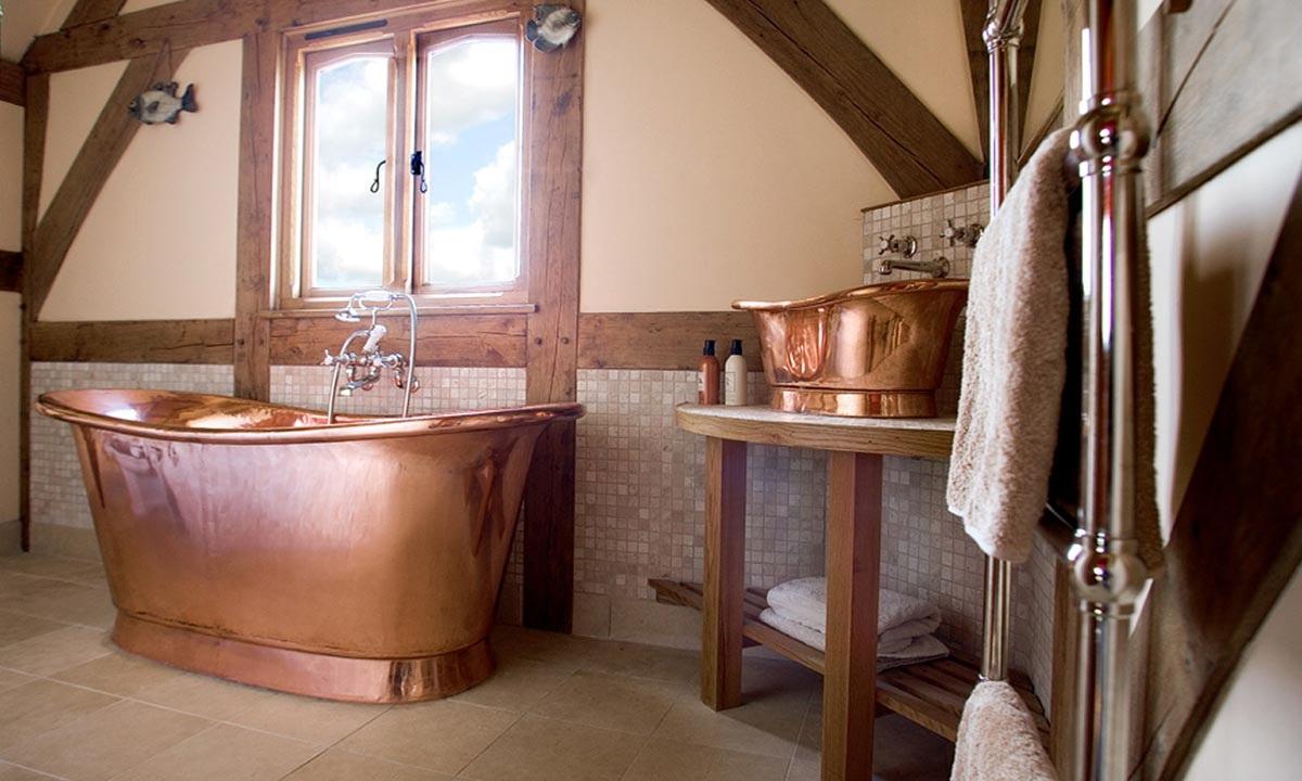 SCM Design Group copper tub