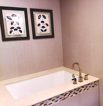 SCM Design Group corner drop-in tub