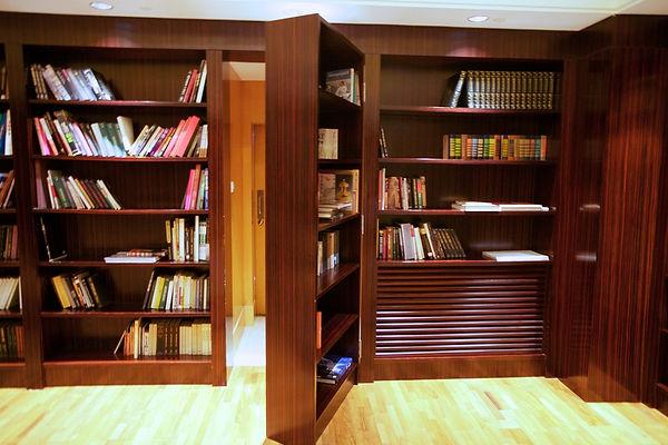 Hidden bookcases doors, Interior designer The Woodlands, Pablo Arguello, TWRS Painting Contractors