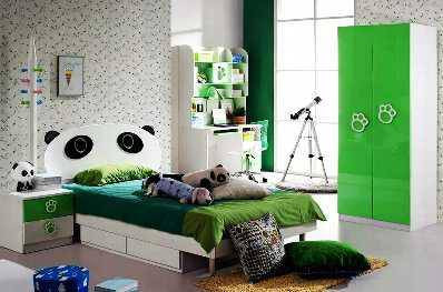 SCM Design Group panda themed kids bedroom