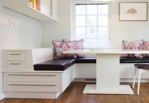 Bench storage to Breakfast, Interior designer The Woodlands, Pablo Arguello, TWRS Painting Contractors
