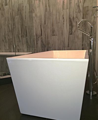 SCM Design Group freestanding rectangle tub