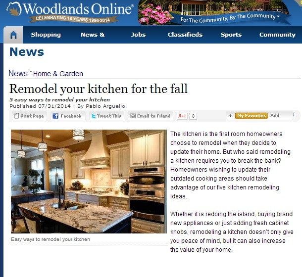 SCM Design Group, Woodlands Online- Remodel your kitchen