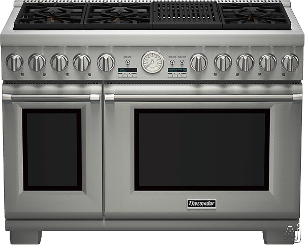 SCM Design Group wide stainless steel double oven range