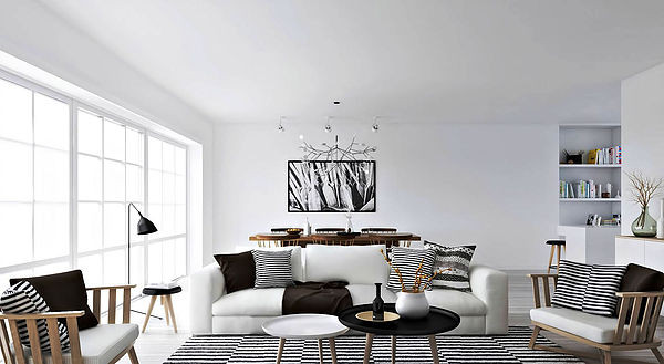 SCM Design Group clear white living room