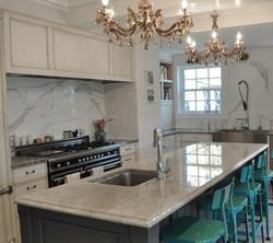 SCM Design Group marble oven splash