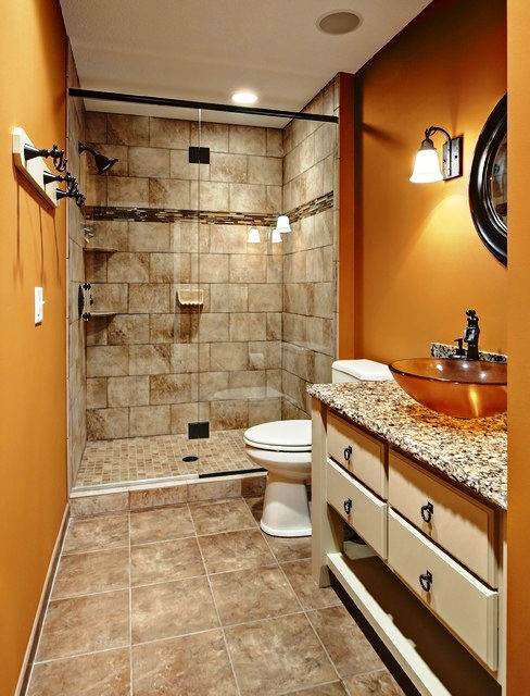 Traditional small bathroom, SCM Design Group, TWRS Painting Contractors