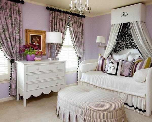 SCM Design Group victorian purple bedroom