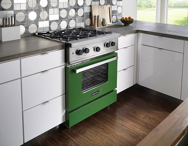 SCM Design Group Big Chill ivy green stove