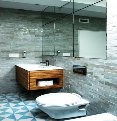 SCM Design Group - Unique Powder room -