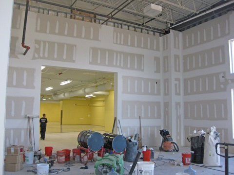 SCM Design Group warehouse painting