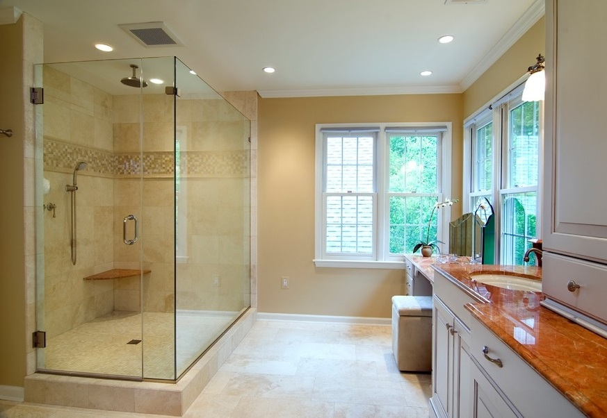 SCM Design Group large glass shower