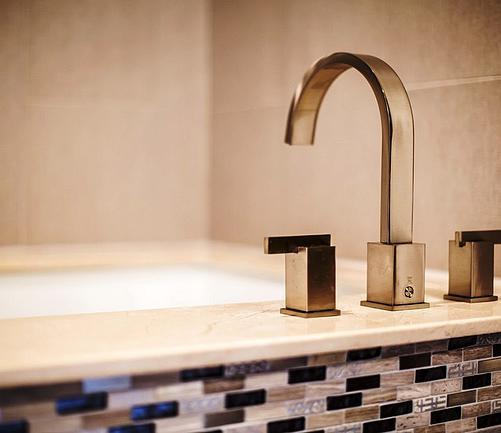 SCM Design Group modern drop-in tub faucet