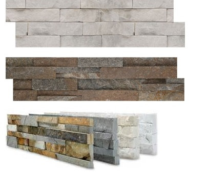 Stacked Stone Accent Walls