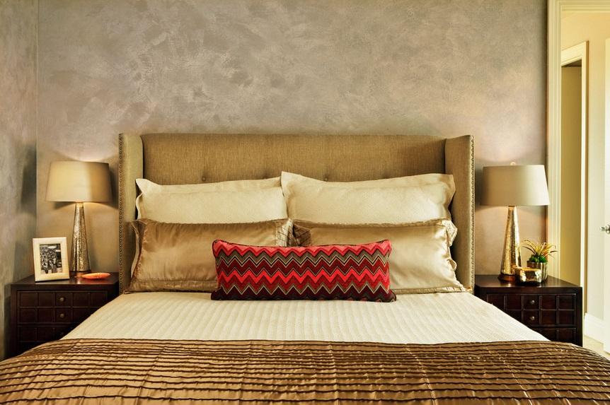 SCM Design Group gold tone bedroom