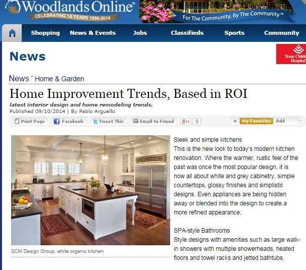 SCM Design Group, Woodlands Online- Home Improvement Trends