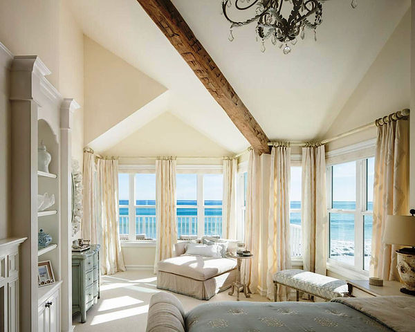 SCM Design Group white walls in beach house