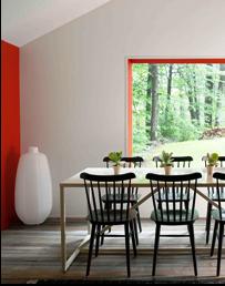 SCM Design Group, Benjamin Moore- Ravishing Red