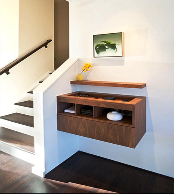 SCM Design Group built-in floating cabinet in entry
