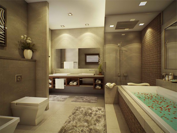 SCM Design Group modern spa style bathroom