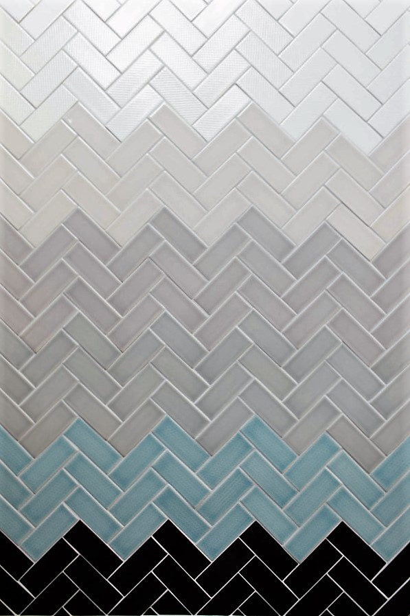 SCM Design Group Herringbone subway tile