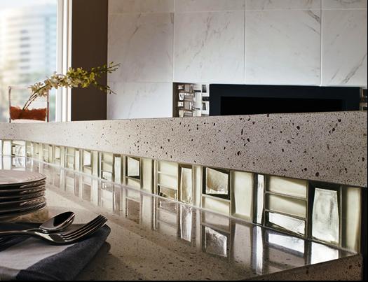 SCM Design Group abstract cut and color tiles on backsplash