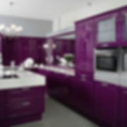 Kitchen design, Purple kitchen cabinets , SCM Design Group