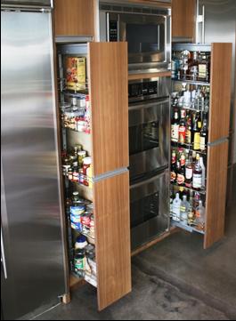 SCM Design Group bar pantry pullouts