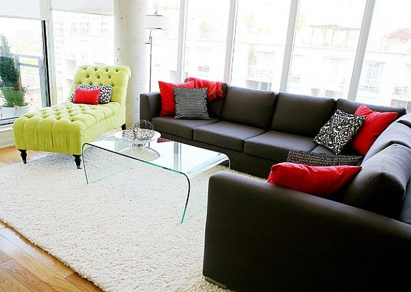 SCM Design Group lounge area with lime green accent chair