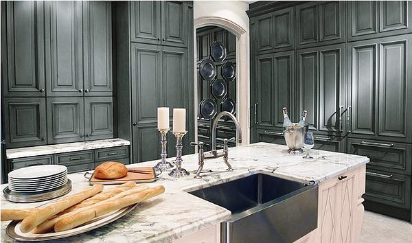 SCM Design Group carrara marble in traditional kitchen