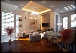SCM Design Group lit tray ceiling