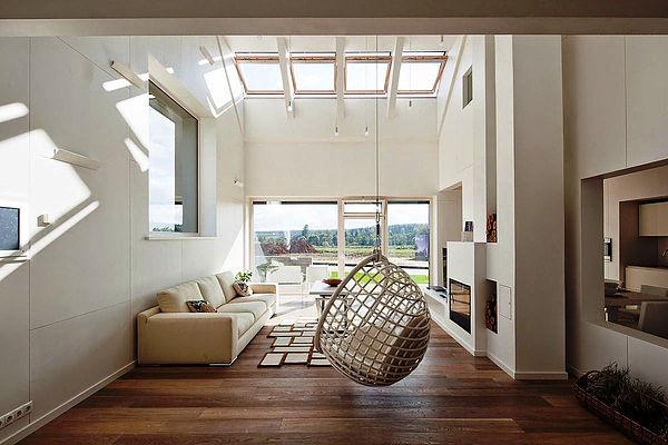 SCM Design Group natural white living room
