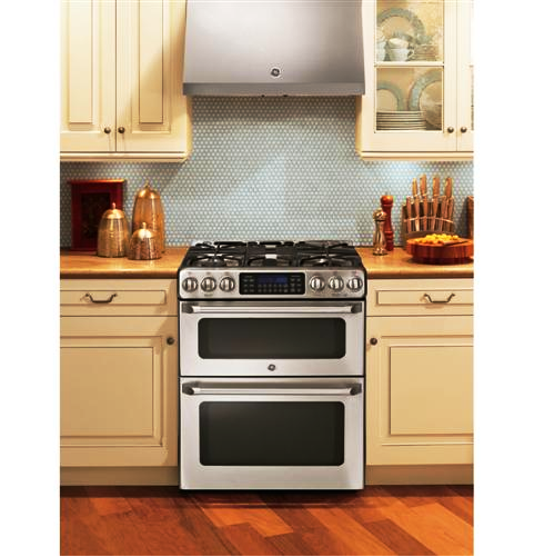 SCM Design Group double oven range in country kitchen