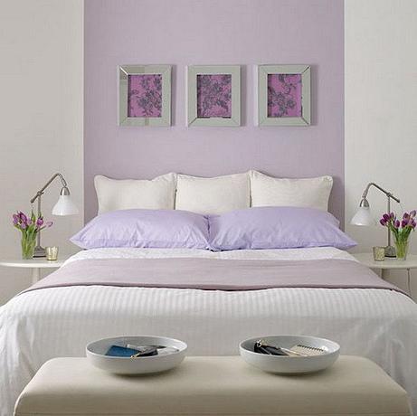 SCM Design Group light pastel purple bedroom