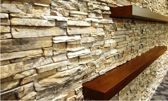 SCM Design Group - stackstone floating shelves -