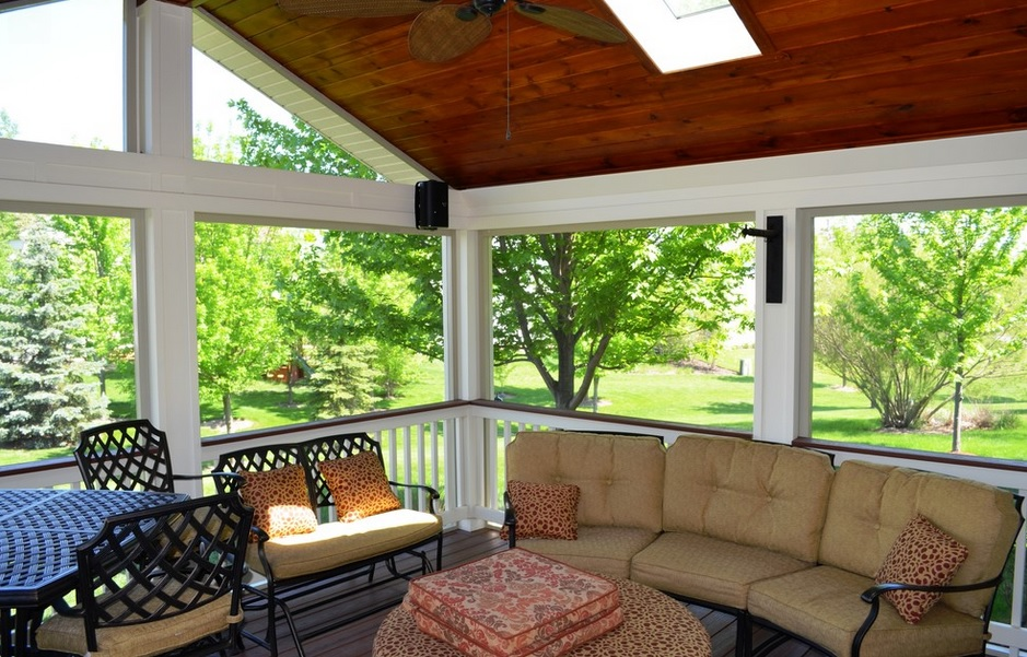SCM Design Group painted sunroom