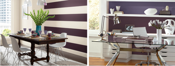 SCM Design Group accent walls, black & white
