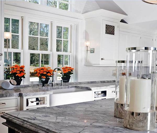 SCM Design Group carrara marble countertops