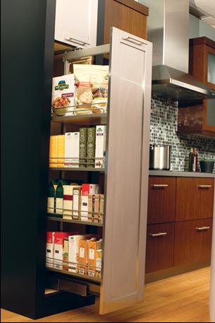 SCM Design Group pullout kitchen storage