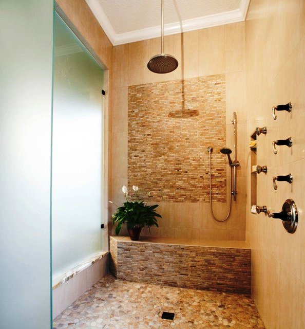 SCM Design Group multi head walk in shower