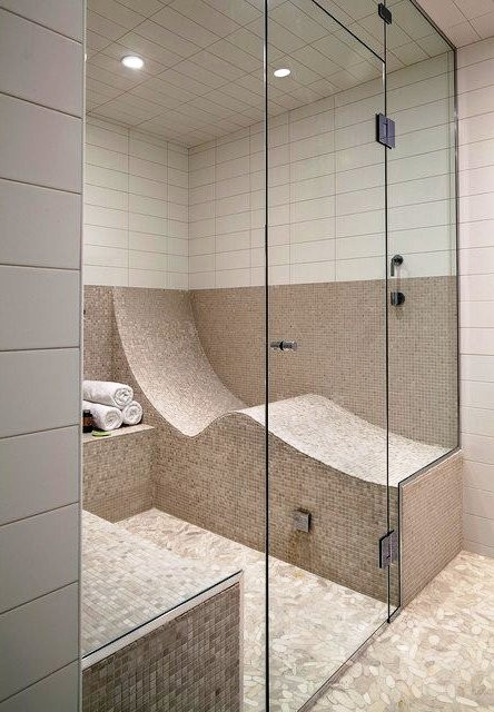 SCM Design Group sauna style shower