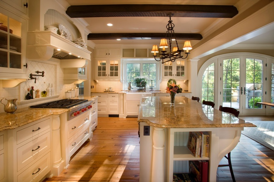 SCM Design Group kitchen with beams
